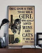 Cat Wine Glass  24x36 Poster lifestyle-poster-2