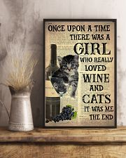 Cat Wine Glass  24x36 Poster lifestyle-poster-3