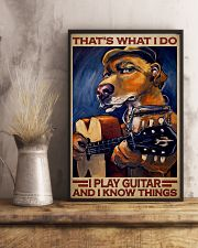 Dog I Play Guitar 24x36 Poster lifestyle-poster-3