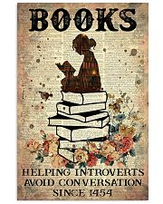 Reading Books Helping Introvert Dictionary Page  24x36 Poster front