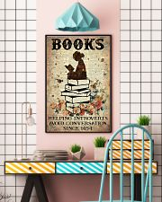 Reading Books Helping Introvert Dictionary Page  24x36 Poster lifestyle-poster-6