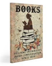 Reading Books Helping Introvert Dictionary Page  Gallery Wrapped Canvas Prints tile