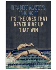 Swimming It's Not Always  24x36 Poster front