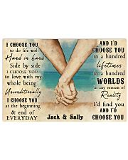 Beach Couple Hands I Choose You 36x24 Poster front