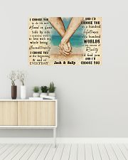 Beach Couple Hands I Choose You 36x24 Poster poster-landscape-36x24-lifestyle-01