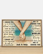 Beach Couple Hands I Choose You 36x24 Poster poster-landscape-36x24-lifestyle-03