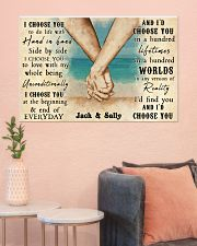 Beach Couple Hands I Choose You 36x24 Poster poster-landscape-36x24-lifestyle-18