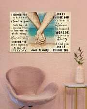 Beach Couple Hands I Choose You 36x24 Poster poster-landscape-36x24-lifestyle-19