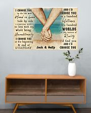 Beach Couple Hands I Choose You 36x24 Poster poster-landscape-36x24-lifestyle-21