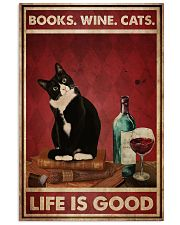 Books Wine Cats Life Is Good 24x36 Poster front