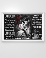 Sugar Skull poster - Gifts for couples - Dprintes 36x24 Poster poster-landscape-36x24-lifestyle-02