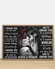 Sugar Skull poster - Gifts for couples - Dprintes 36x24 Poster poster-landscape-36x24-lifestyle-03