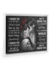 Sugar Skull poster - Gifts for couples - Dprintes 14x11 White Floating Framed Canvas Prints thumbnail