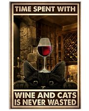 Time Spent With Wine And Cats 24x36 Poster front