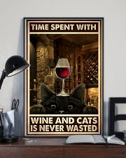 Time Spent With Wine And Cats 24x36 Poster lifestyle-poster-2