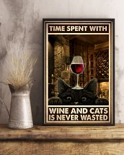 Time Spent With Wine And Cats 24x36 Poster lifestyle-poster-3