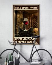 Time Spent With Wine And Cats 24x36 Poster lifestyle-poster-7