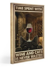 Time Spent With Wine And Cats 20x30 Gallery Wrapped Canvas Prints thumbnail