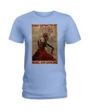 Salsa Flamenco Easily Distracted  Ladies T-Shirt tile