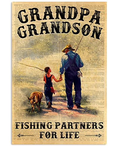 Grandpa And Grandson Fishing Partners For Life