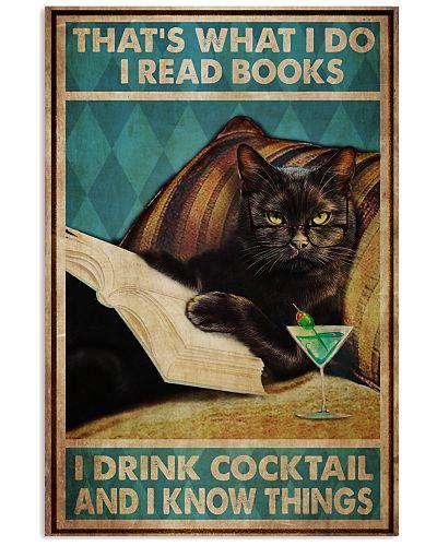 Black Cat Read Books Drink Cocktail