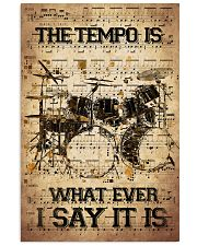 Drums Tempo Music Sheet  24x36 Poster front