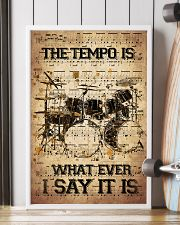 Drums Tempo Music Sheet  24x36 Poster lifestyle-poster-4
