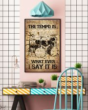 Drums Tempo Music Sheet  24x36 Poster lifestyle-poster-6