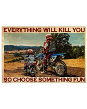Off-road Motorcycle Choose Something Fun 36x24 Poster front
