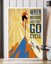 Cycling It Is Not The Mountain We Conquer 24x36 Poster lifestyle-poster-4