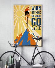 Cycling It Is Not The Mountain We Conquer 24x36 Poster lifestyle-poster-7