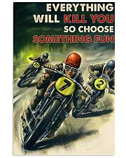 Motorcycle Racing Choose Something Fun 24x36 Poster front