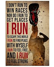 I Run 24x36 Poster front