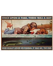 Boy Loved Ice Fishing 36x24 Poster front