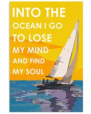 Sailing Into The Ocean I Go Vertical Poster tile