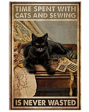 Sewing and Cats Never Wasted 24x36 Poster front