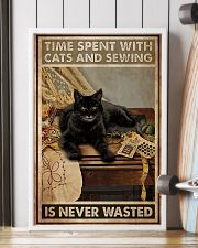 Sewing and Cats Never Wasted 24x36 Poster lifestyle-poster-4