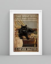 Sewing and Cats Never Wasted 24x36 Poster lifestyle-poster-5
