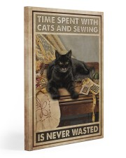 Sewing and Cats Never Wasted Gallery Wrapped Canvas Prints tile