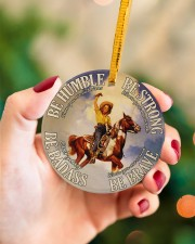 Cowgirl Making History Circle ornament - single (porcelain) aos-circle-ornament-single-porcelain-lifestyles-09