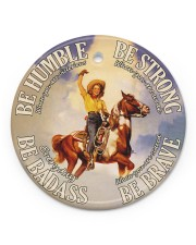 Cowgirl Making History Circle ornament - single (porcelain) front