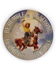 Cowgirl Making History Circle Ornament (Wood tile