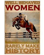 Show Jumping Well Behaved Women 24x36 Poster front