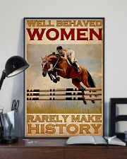 Show Jumping Well Behaved Women 24x36 Poster lifestyle-poster-2
