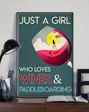 Just A Girl Who Loves Wines And Paddleboarding 24x36 Poster lifestyle-poster-2