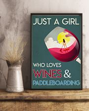 Just A Girl Who Loves Wines And Paddleboarding 24x36 Poster lifestyle-poster-3