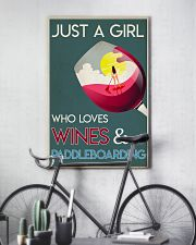 Just A Girl Who Loves Wines And Paddleboarding 24x36 Poster lifestyle-poster-7