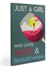 Just A Girl Who Loves Wines And Paddleboarding 20x30 Gallery Wrapped Canvas Prints thumbnail