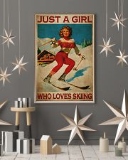 Just A Girl Loves Skiing 24x36 Poster lifestyle-holiday-poster-1