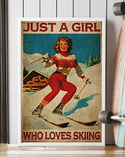 Just A Girl Loves Skiing 24x36 Poster lifestyle-poster-4
